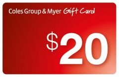Coles Myer $20 Gift Card