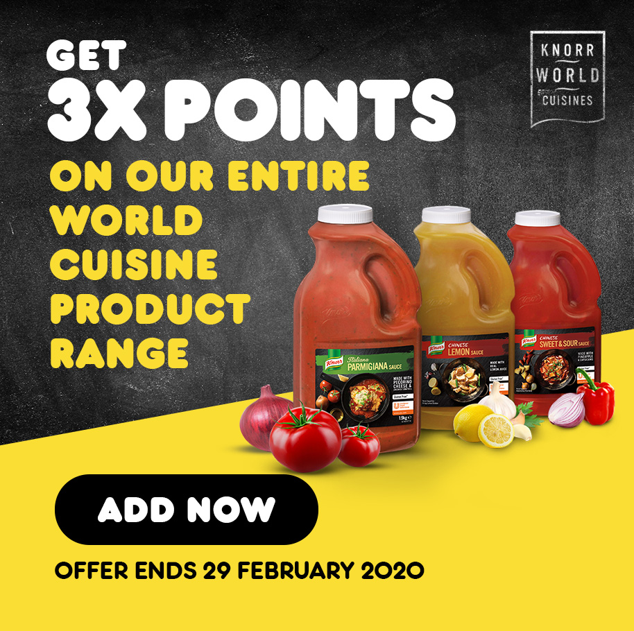 Get 3x points on our World Cuisine range